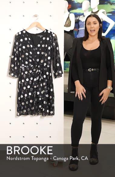 Tie Front Clip Dot Chiffon Dress, sales video thumbnail