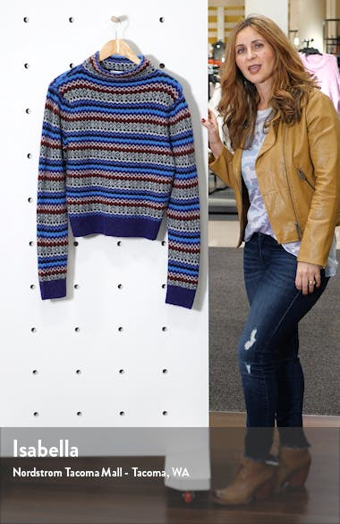 Fair Isle Funnel Neck Sweater, sales video thumbnail