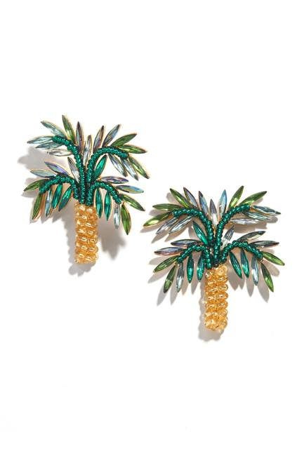 Image of BAUBLEBAR Palms Statement Stud Earrings