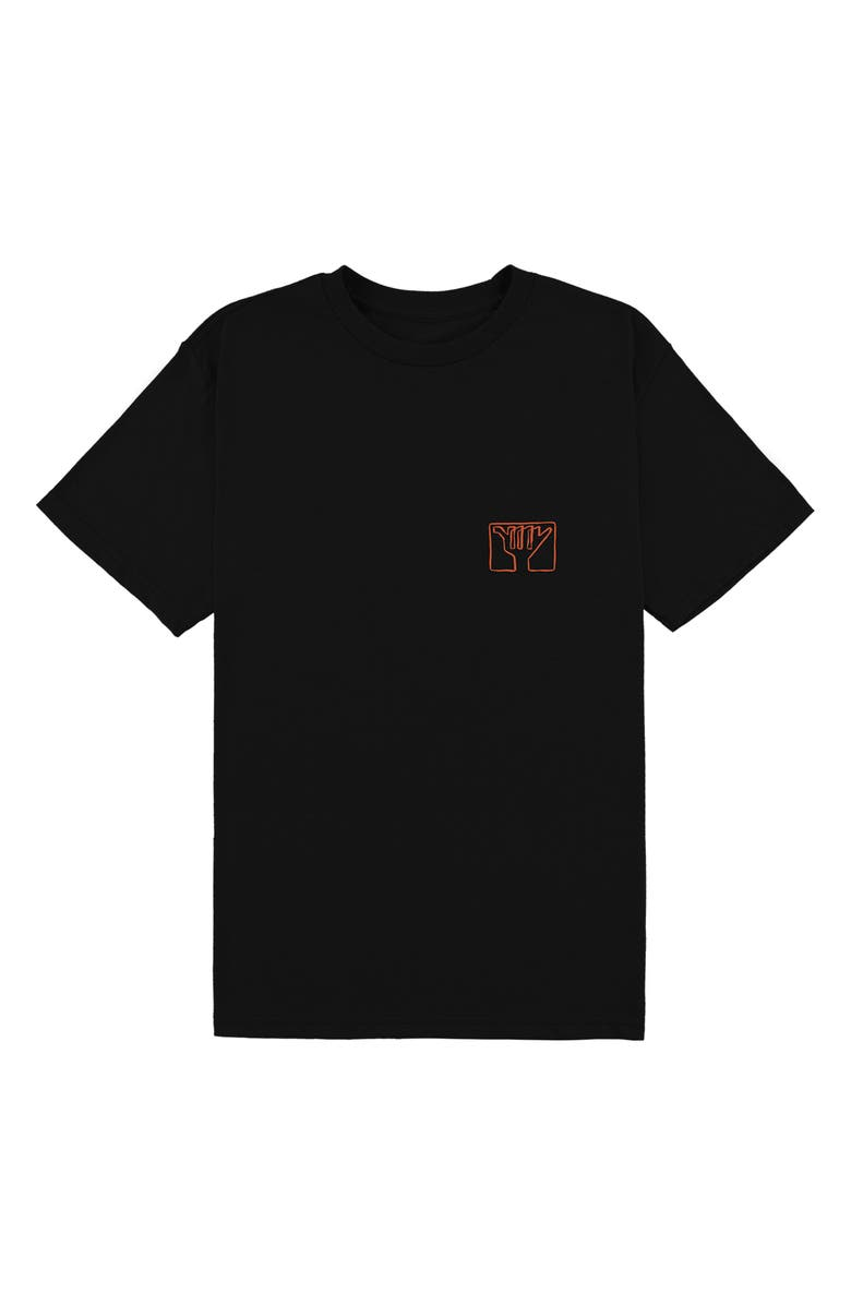 O'NEILL Etch Logo T-Shirt, Main, color, BLACK