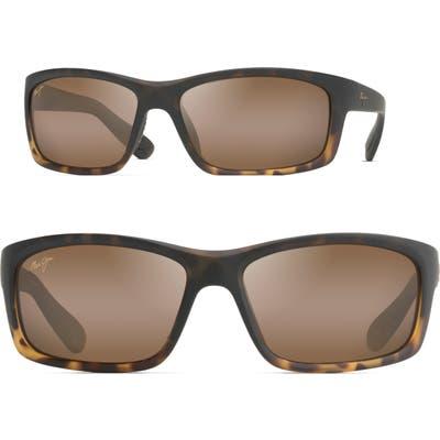 Maui Jim Kanaio Coast 61mm Polarizedplus2 Sunglasses - Matte Tortoise Ombre/ Bronze