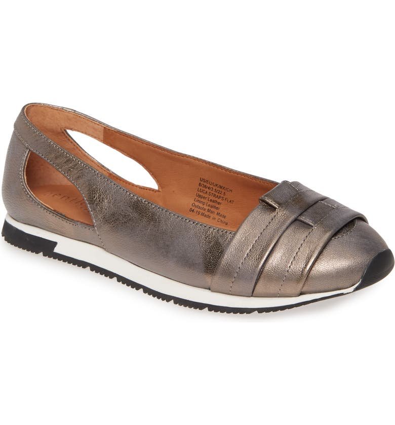 GENTLE SOULS BY KENNETH COLE Luca Flat, Main, color, PEWTER LEATHER