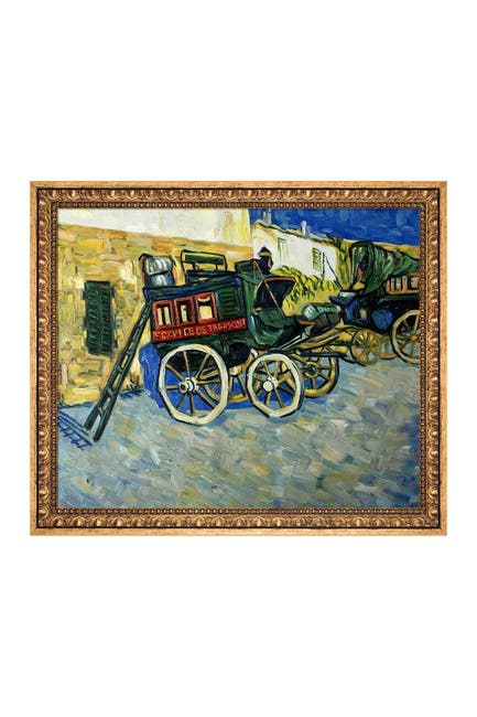 """Image of Overstock Art Tarascon Diligence with Versailles Gold Frame - 23.5"""" x 27.5"""""""