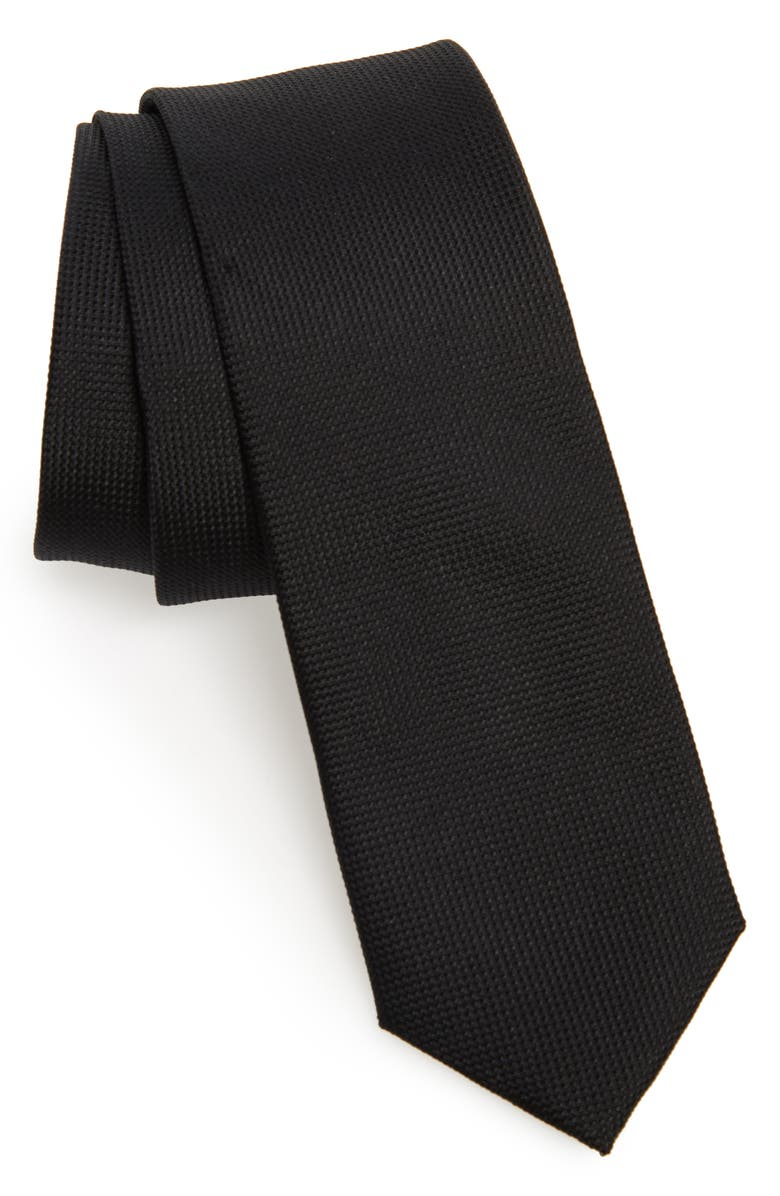 1901 Jameswood Silk Tie, Main, color, BLACK