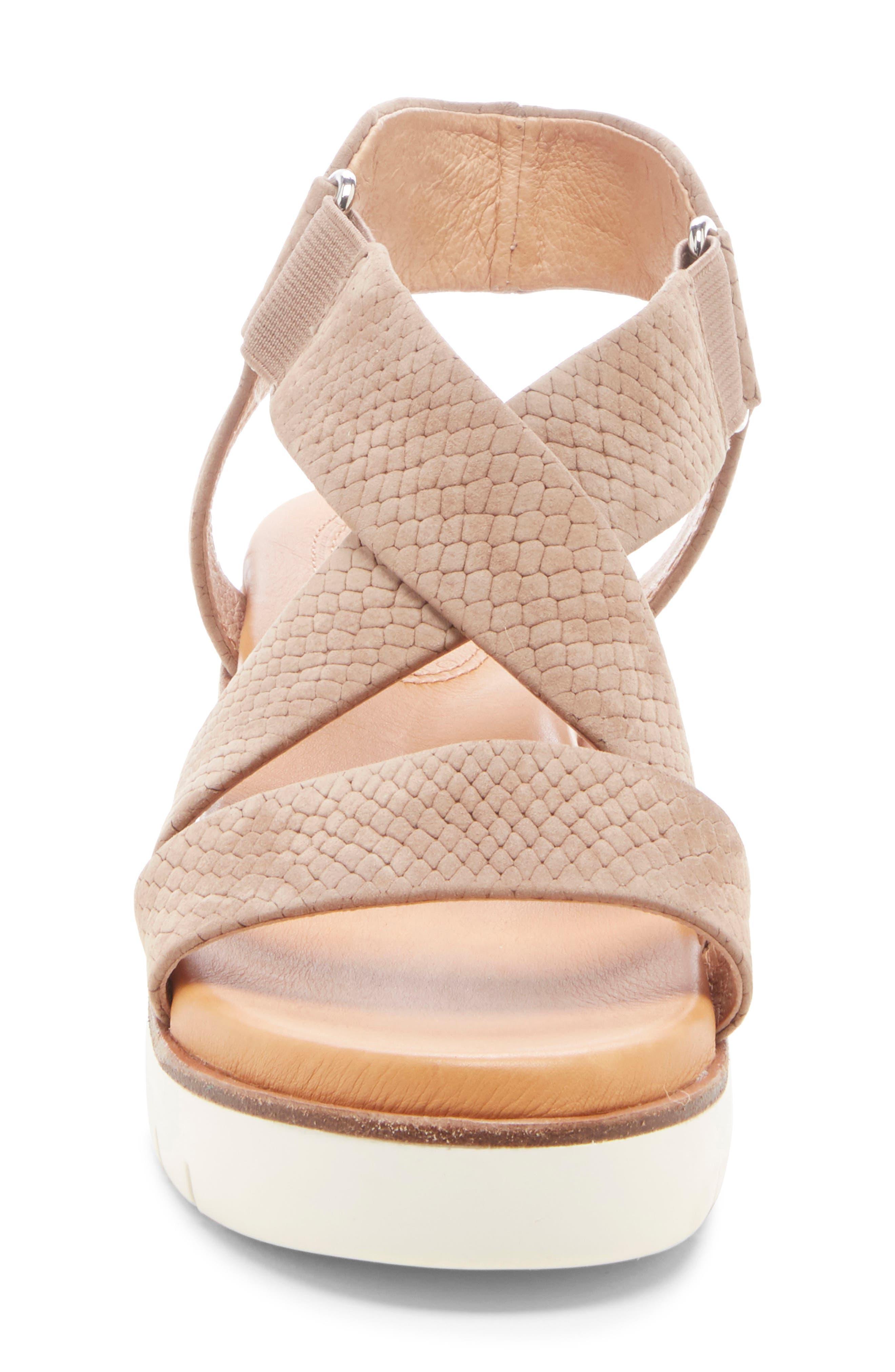 ,                             Bonneigh Platform Sandal,                             Alternate thumbnail 3, color,                             SMOKEY ASH EMBOSSED LEATHER