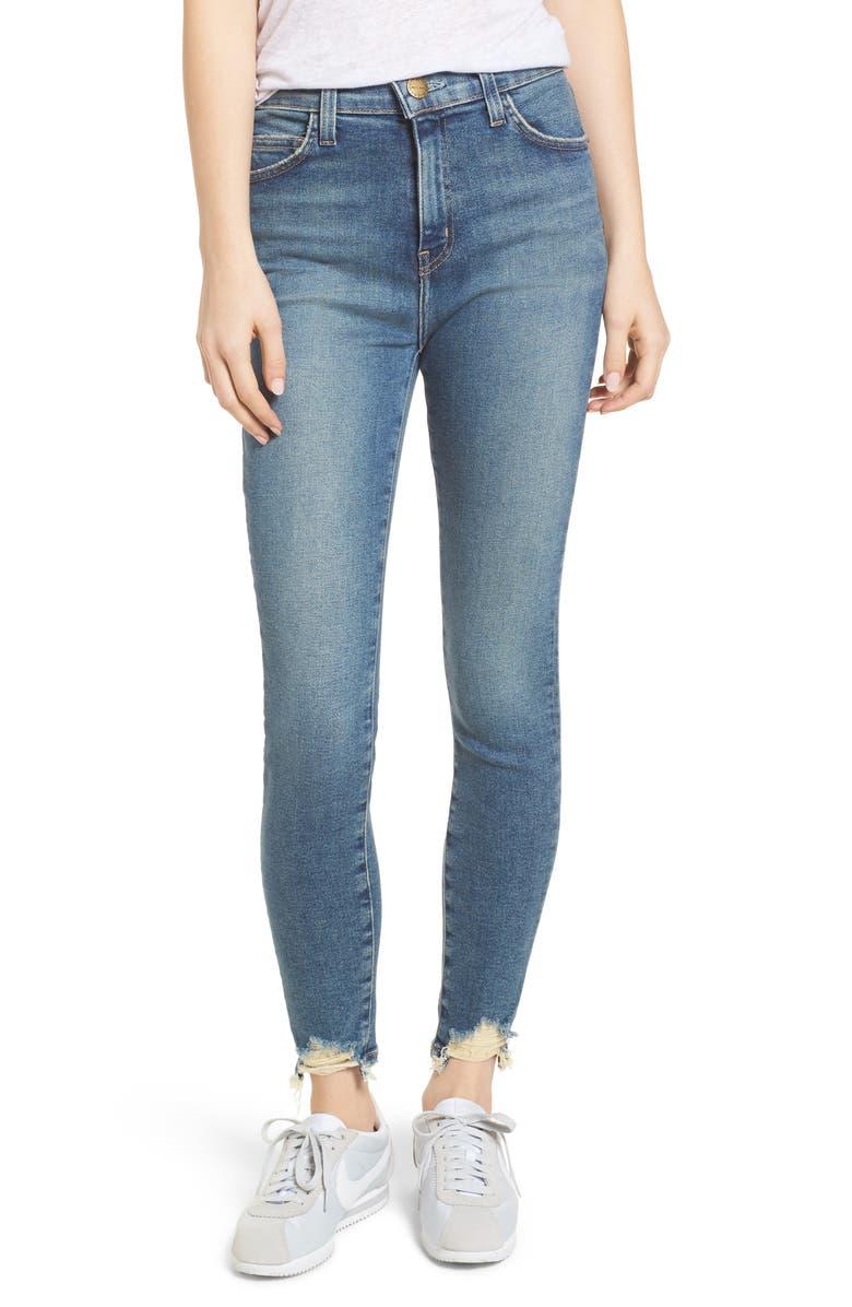 CURRENT/ELLIOTT The Super High Waist Stiletto Skinny Jeans, Main, color, 468