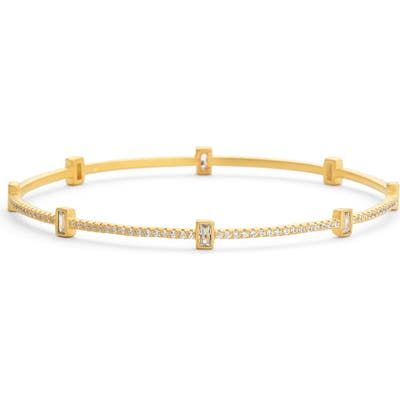 Freida Rothman Baguette Station Bangle Bracelet