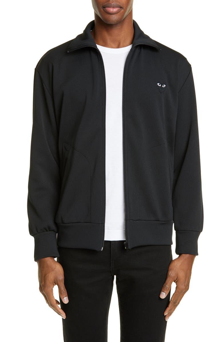 COMME DES GARÇONS PLAY Track Jacket, Main, color, BLACK