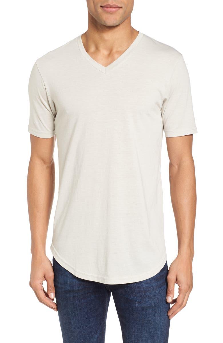 GOODLIFE Scallop Triblend V-Neck T-Shirt, Main, color, 020