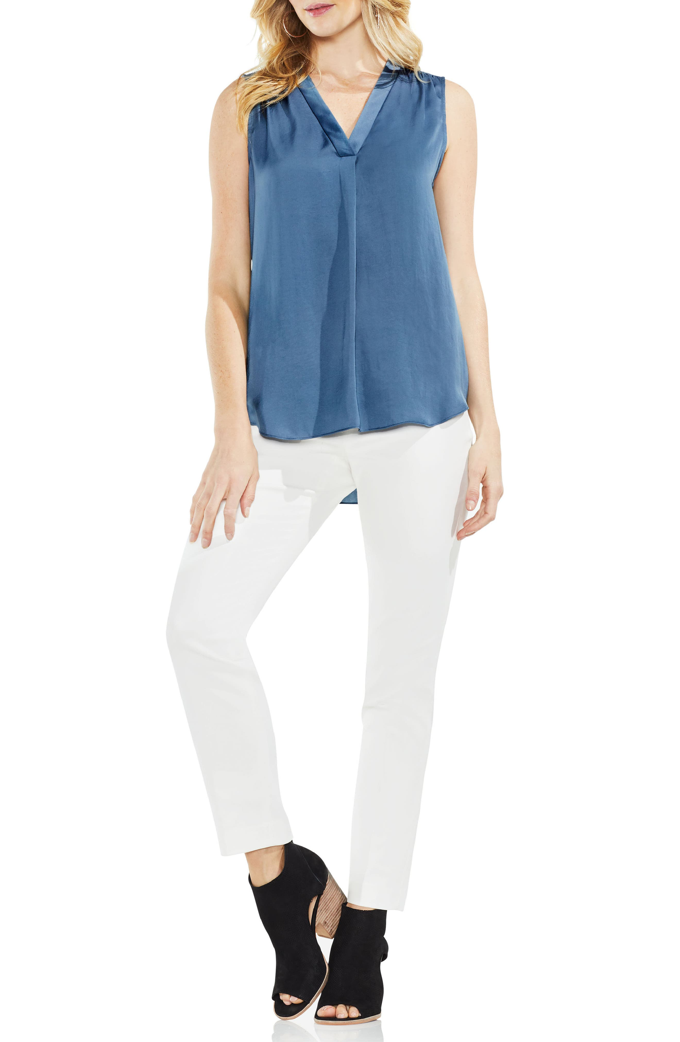 ,                             Rumpled Satin Blouse,                             Alternate thumbnail 163, color,                             404