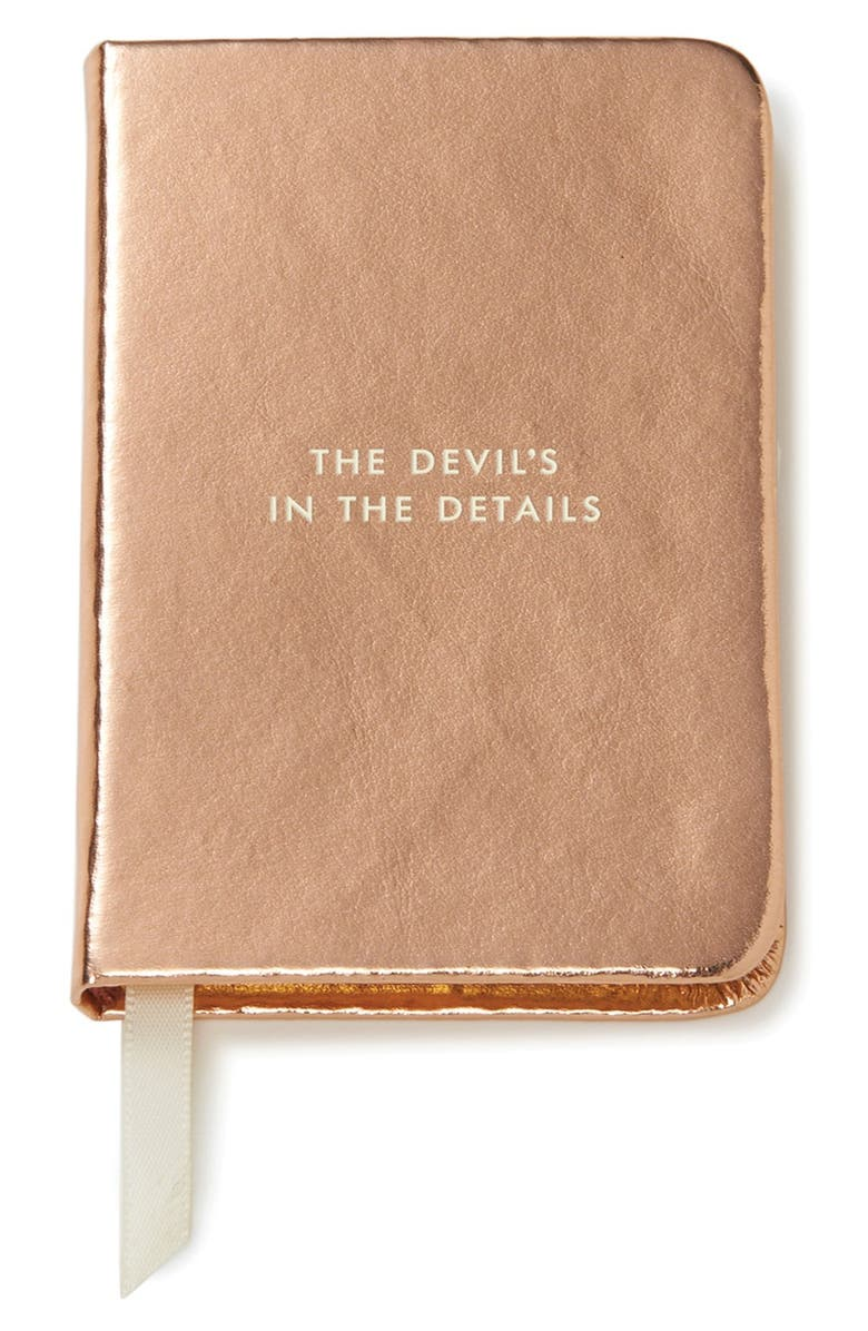KATE SPADE NEW YORK 'the devil's in the details' mini notebook, Main, color, 680