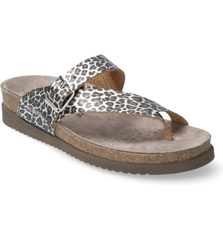 MEPHISTO 'Helen' Sandal, Main, color, BROWN PANTHERA PRINT LEATHER
