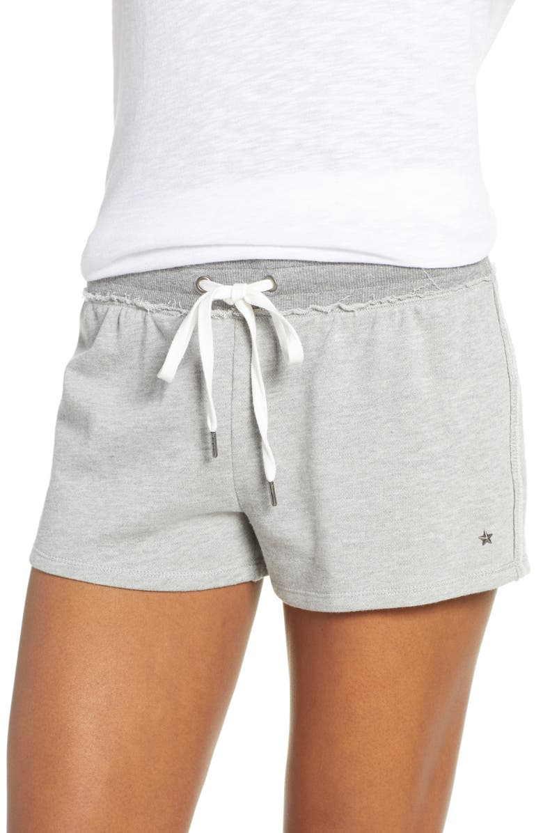 PJ SALVAGE Laid Back Lounge Shorts, Main, color, HEATHER GREY