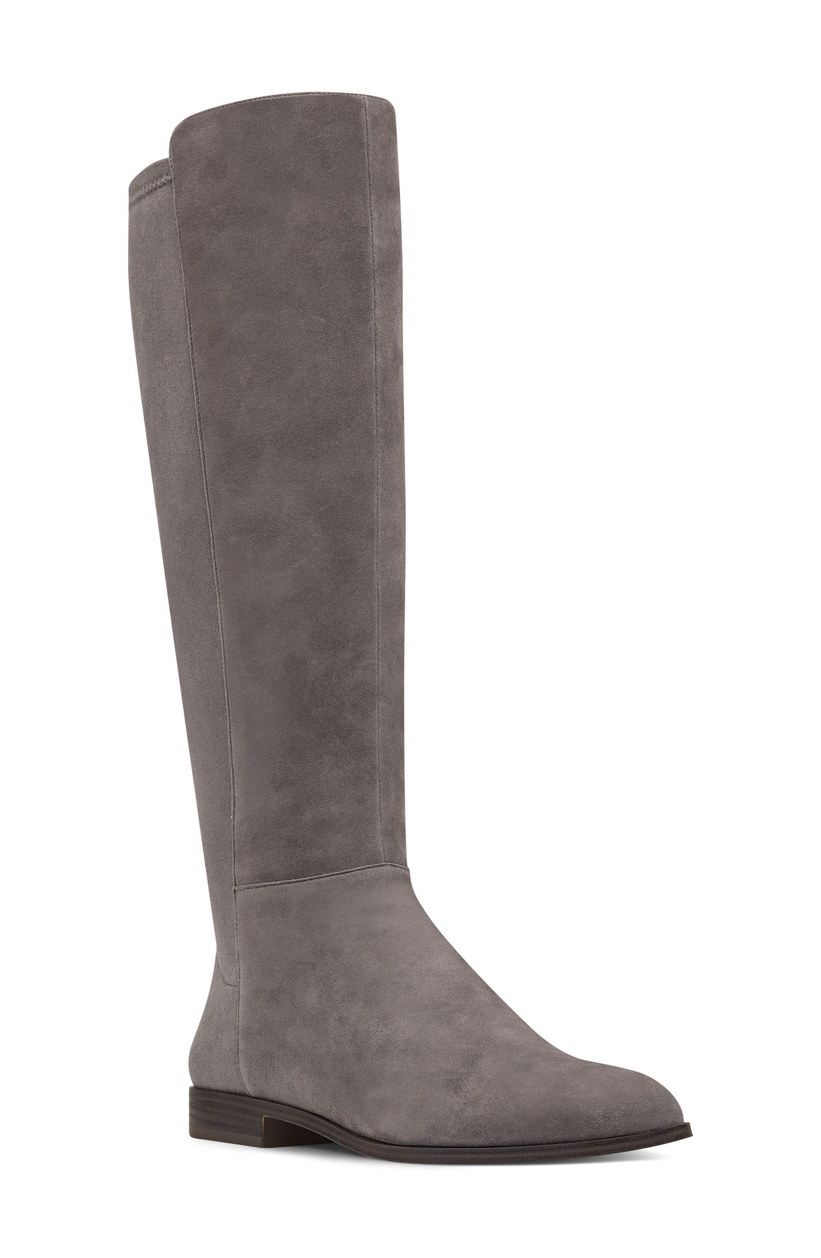 Nine West Owenford Knee High Riding Boot, Regular Calf- Grey