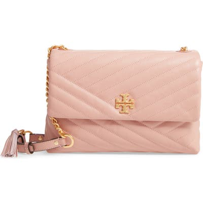 Tory Burch Kira Chevron Quilted Leather Shoulder Bag - Pink