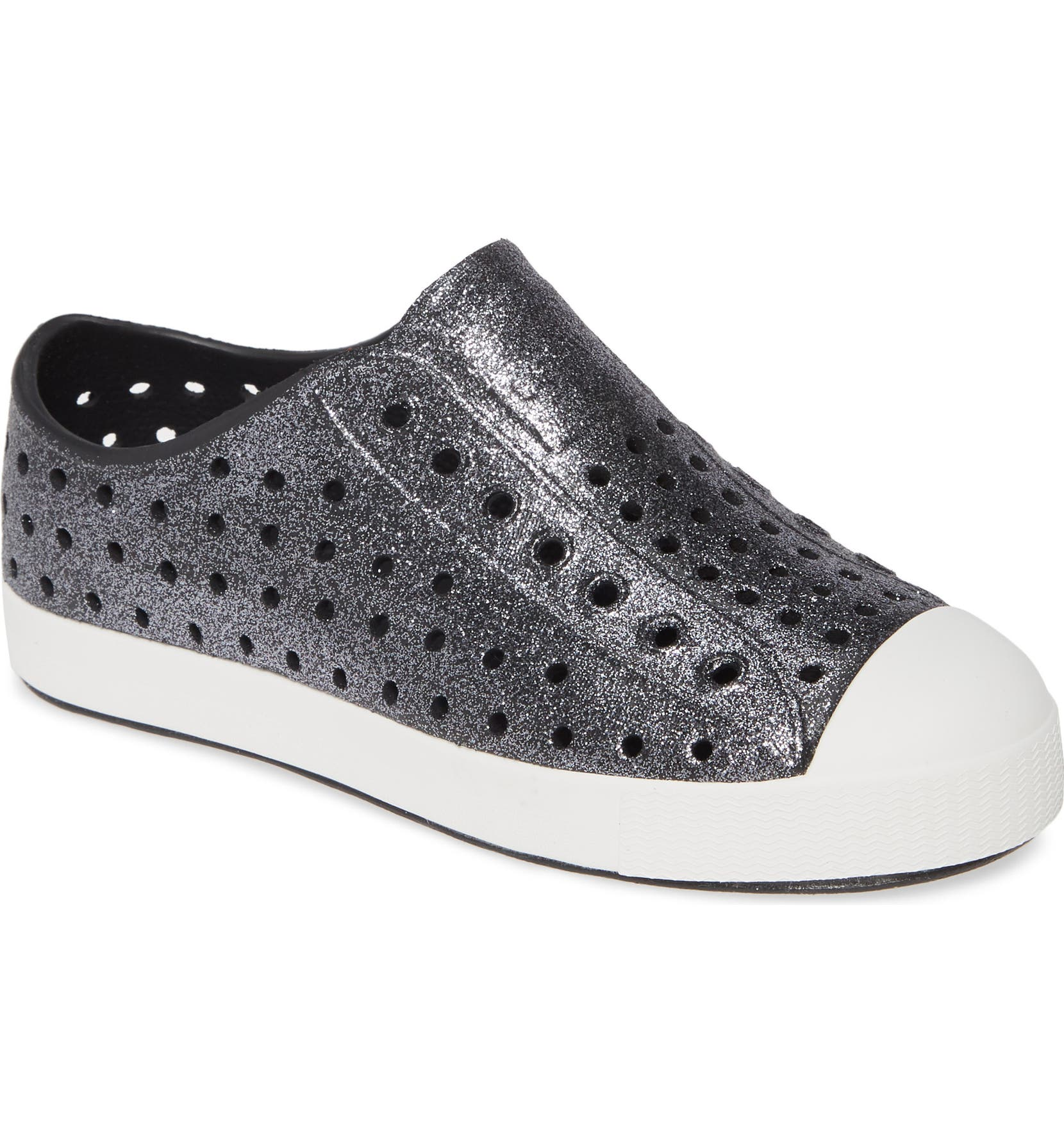 c80d76d318af Native Shoes Jefferson Bling Glitter Slip-On Vegan Sneaker (Baby, Walker,  Toddler & Little Kid) | Nordstrom