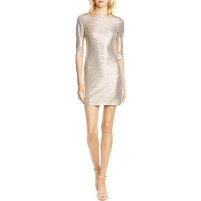 Alice + Olivia Delora Body-Con Dress, Metallic