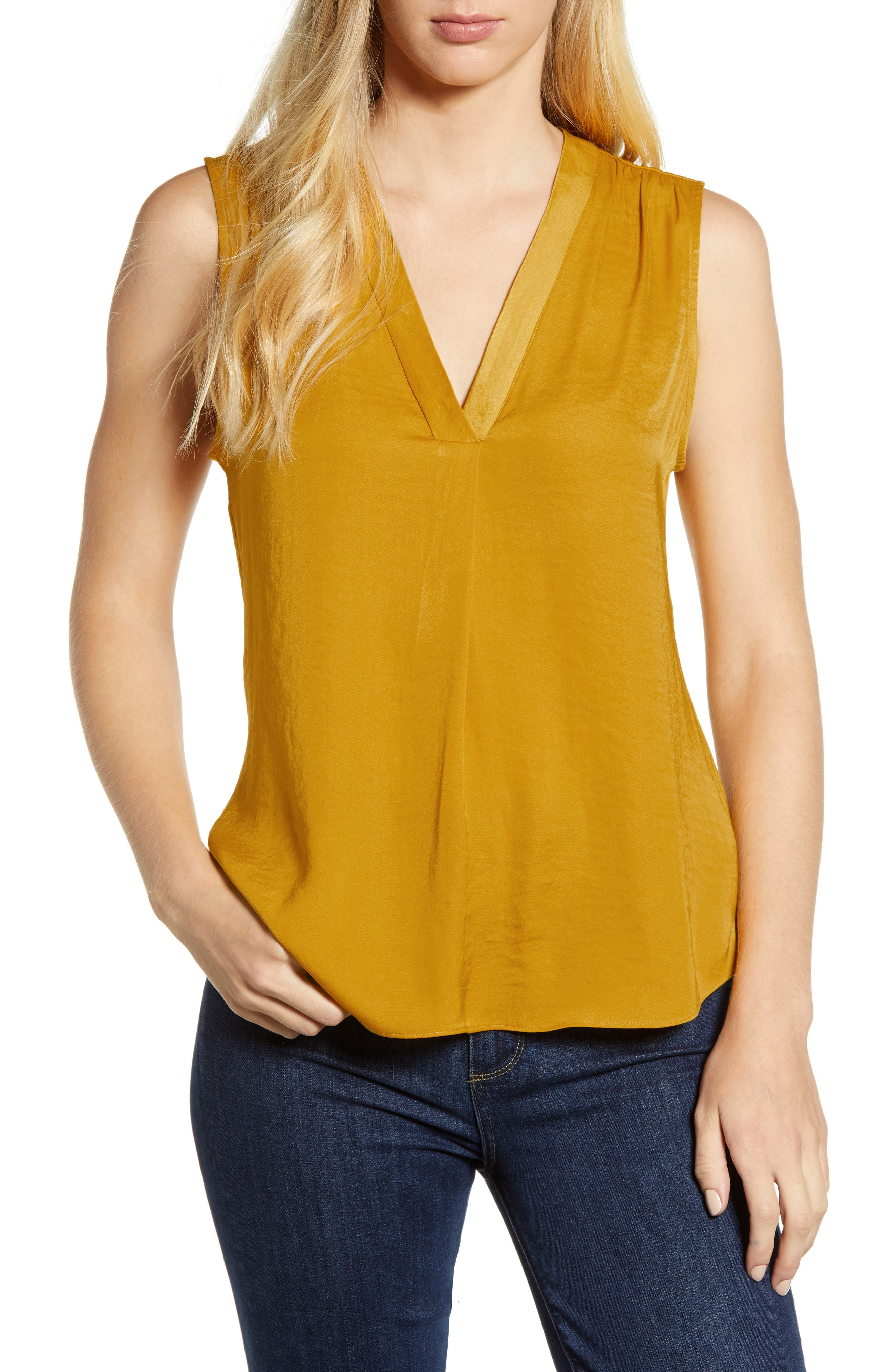,                             Rumpled Satin Blouse,                             Main thumbnail 263, color,                             753