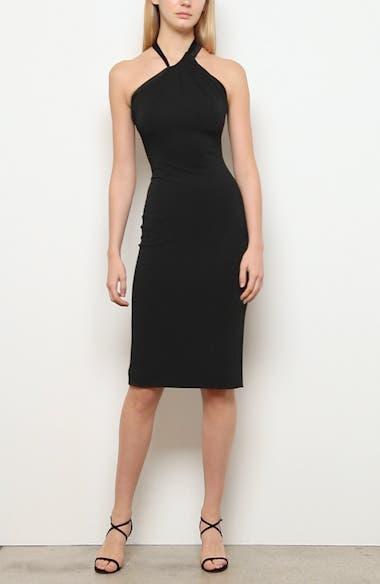 Asymmetrical Halter Body-Con Dress, video thumbnail