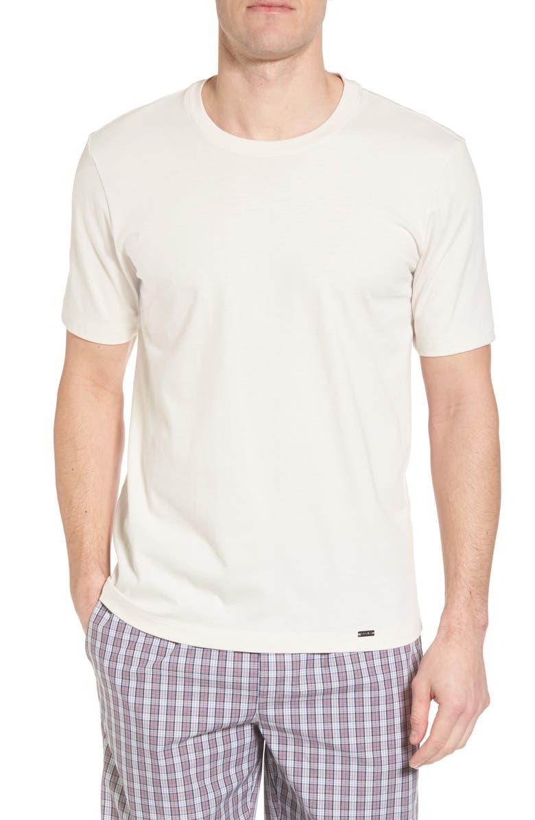 HANRO Living Crewneck T-Shirt, Main, color, PEARL