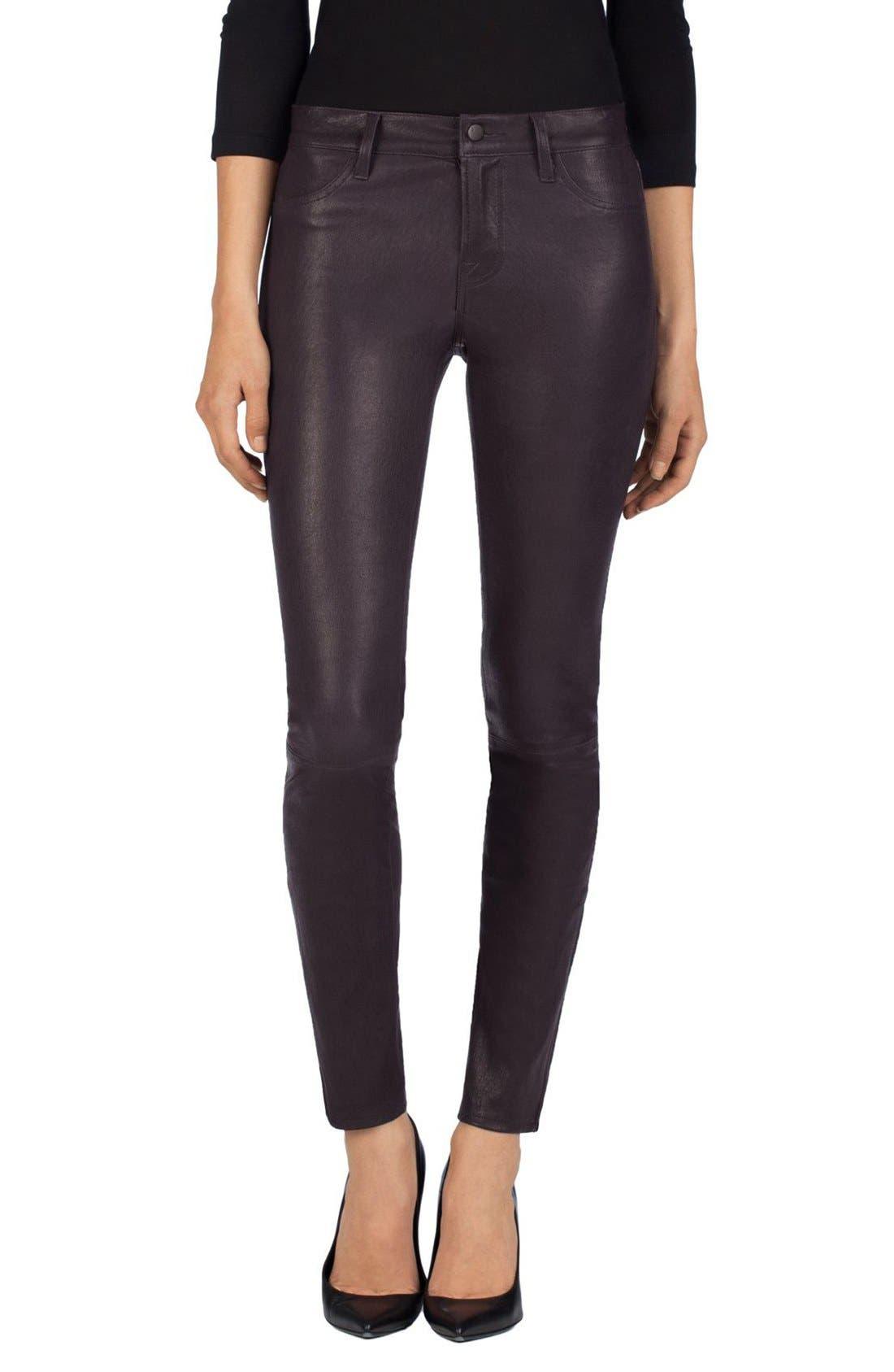 ,                             '8001' Lambskin Leather Pants,                             Main thumbnail 69, color,                             507