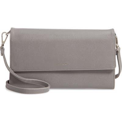 Matt & Nat Large Drew Faux Leather Crossbody Bag - Grey