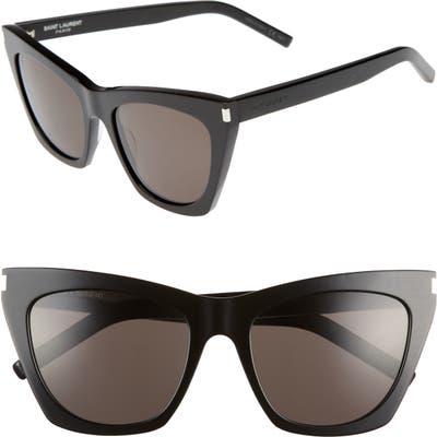 Saint Laurent Kate 55Mm Cat Eye Sunglasses - Black