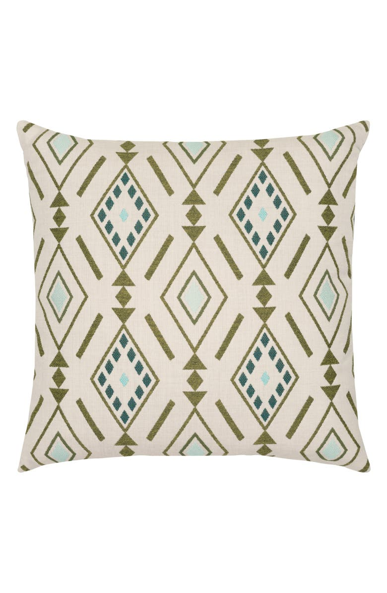 ELAINE SMITH Cusco Indoor/Outdoor Accent Pillow, Main, color, GREEN MULTI