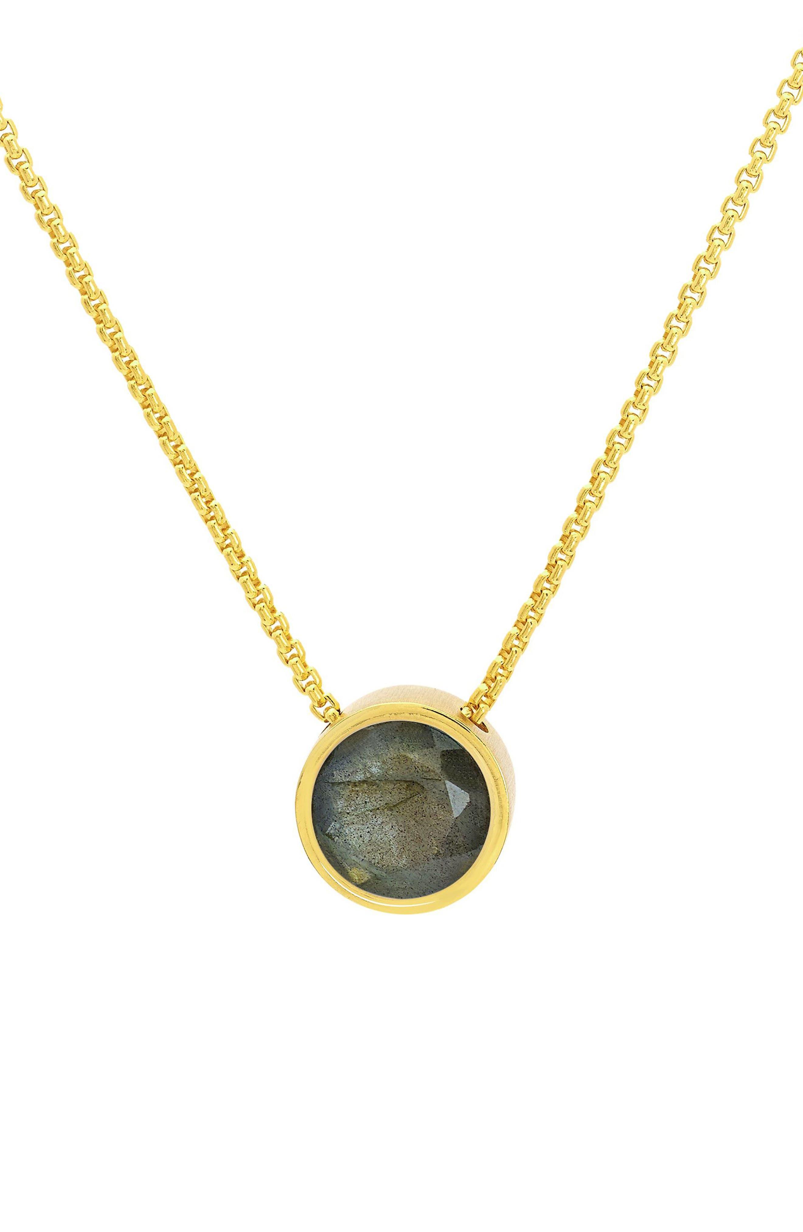 Midi Signature Labradorite Pendant Necklace
