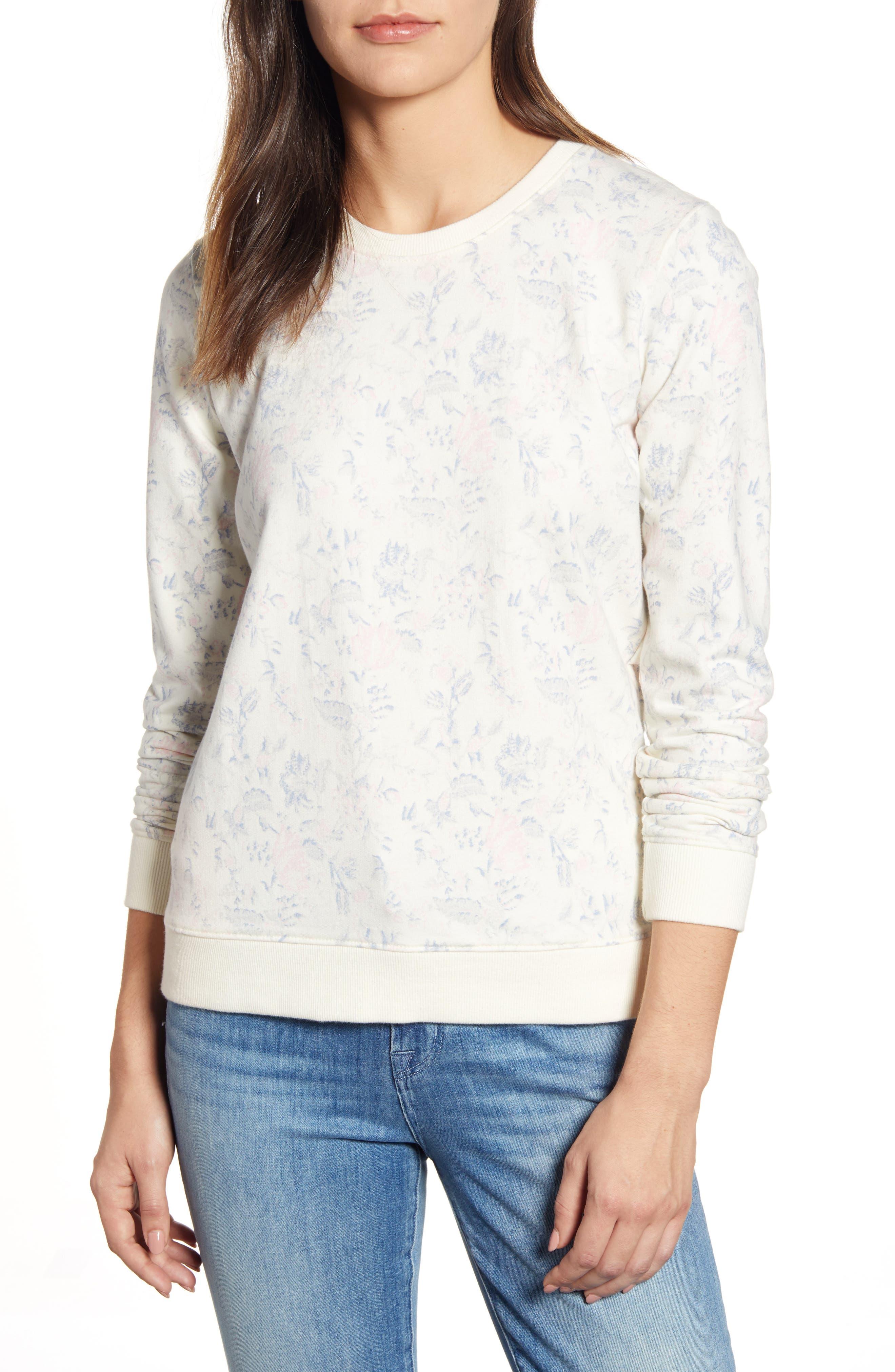 Lucky Brand Floral Sweatshirt, Ivory