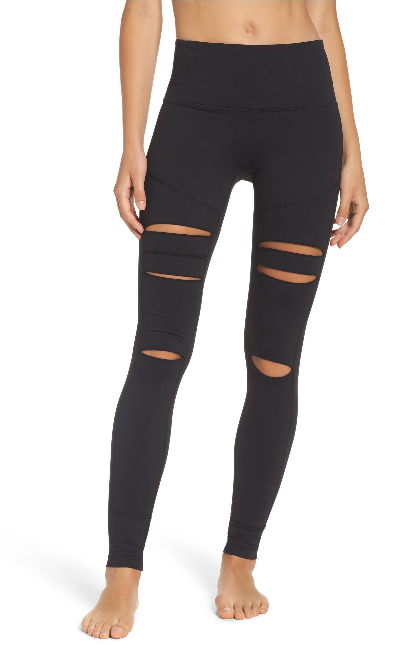 e4d13273a92a4 Zella Cece High Waist Open Knee Leggings | Nordstrom