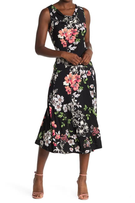 Image of Robbie Bee Floral Sleeveless Midi Dress