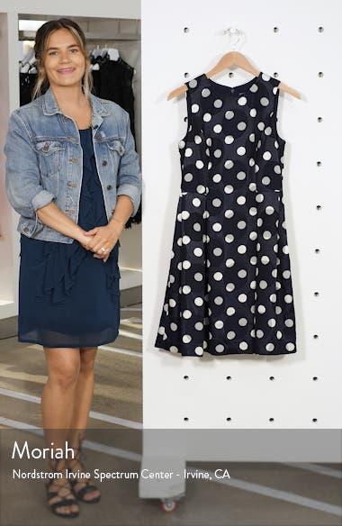 Dot Jacquard Fit & Flare Dress, sales video thumbnail