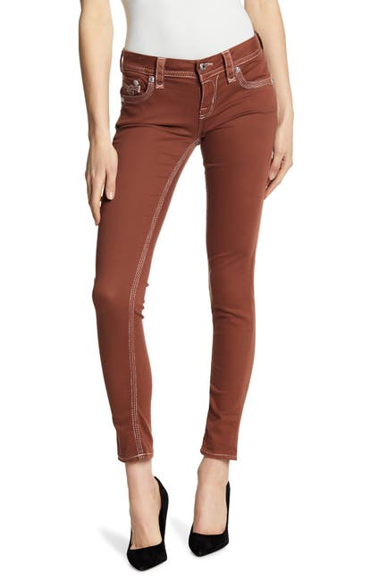 Image of Rock Revival Roselle Metallic Stitch Skinny Jeans