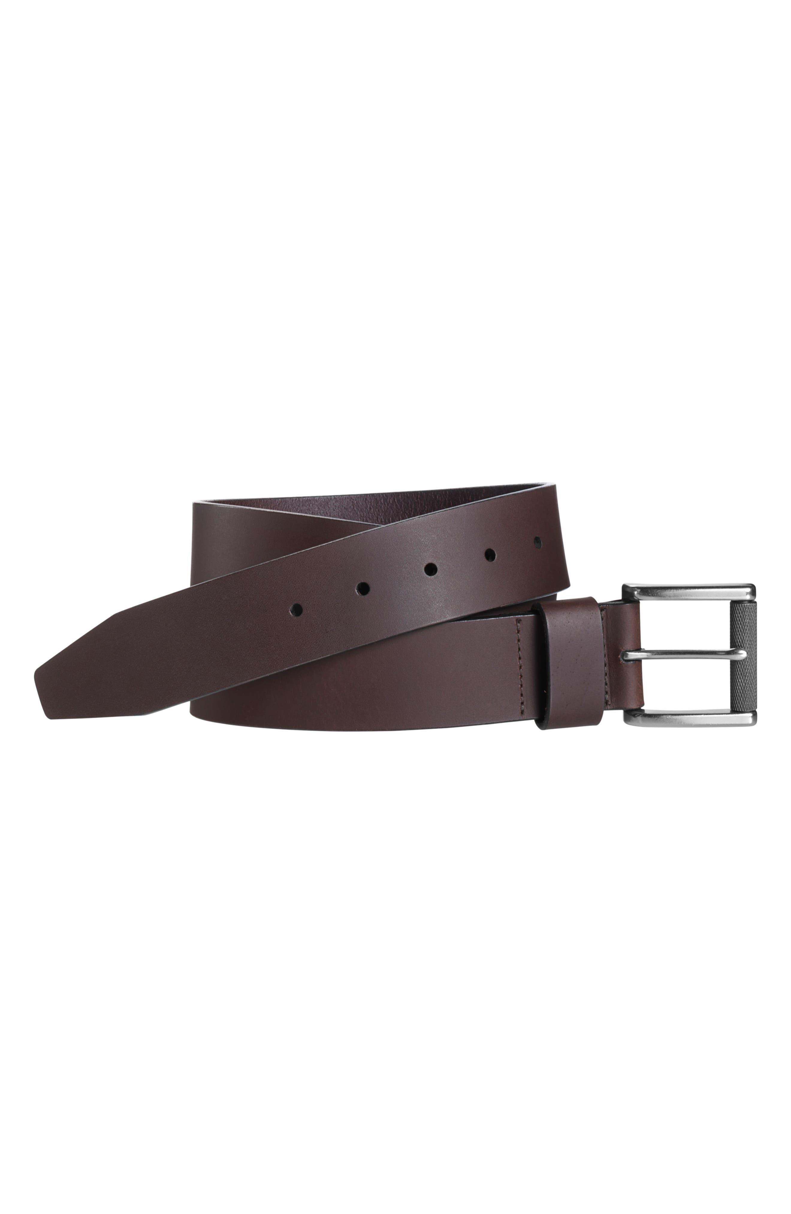 Men's Johnson & Murphy Roller Buckle Leather Belt