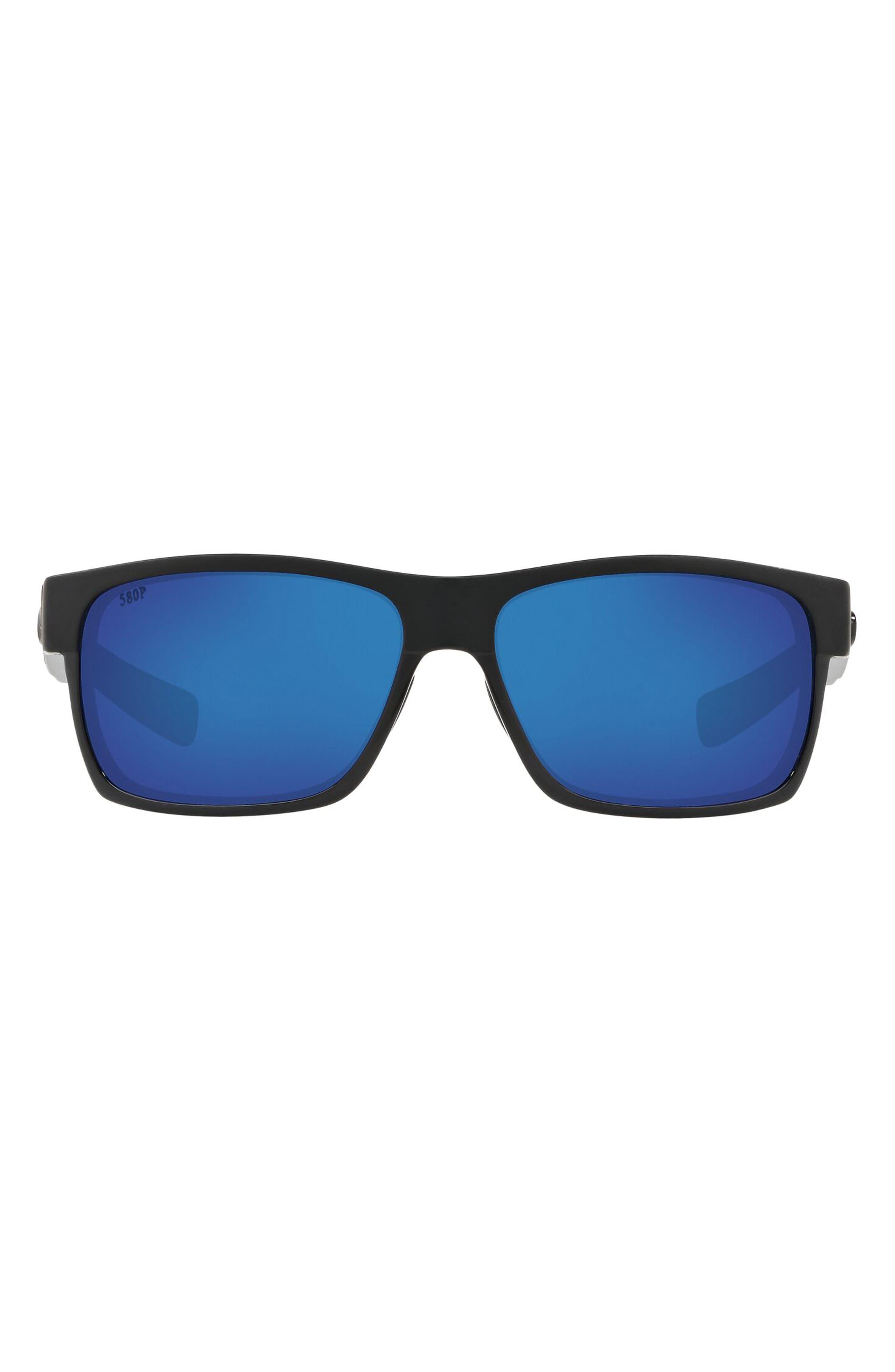 60mm Polarized Rectangular Sunglasses