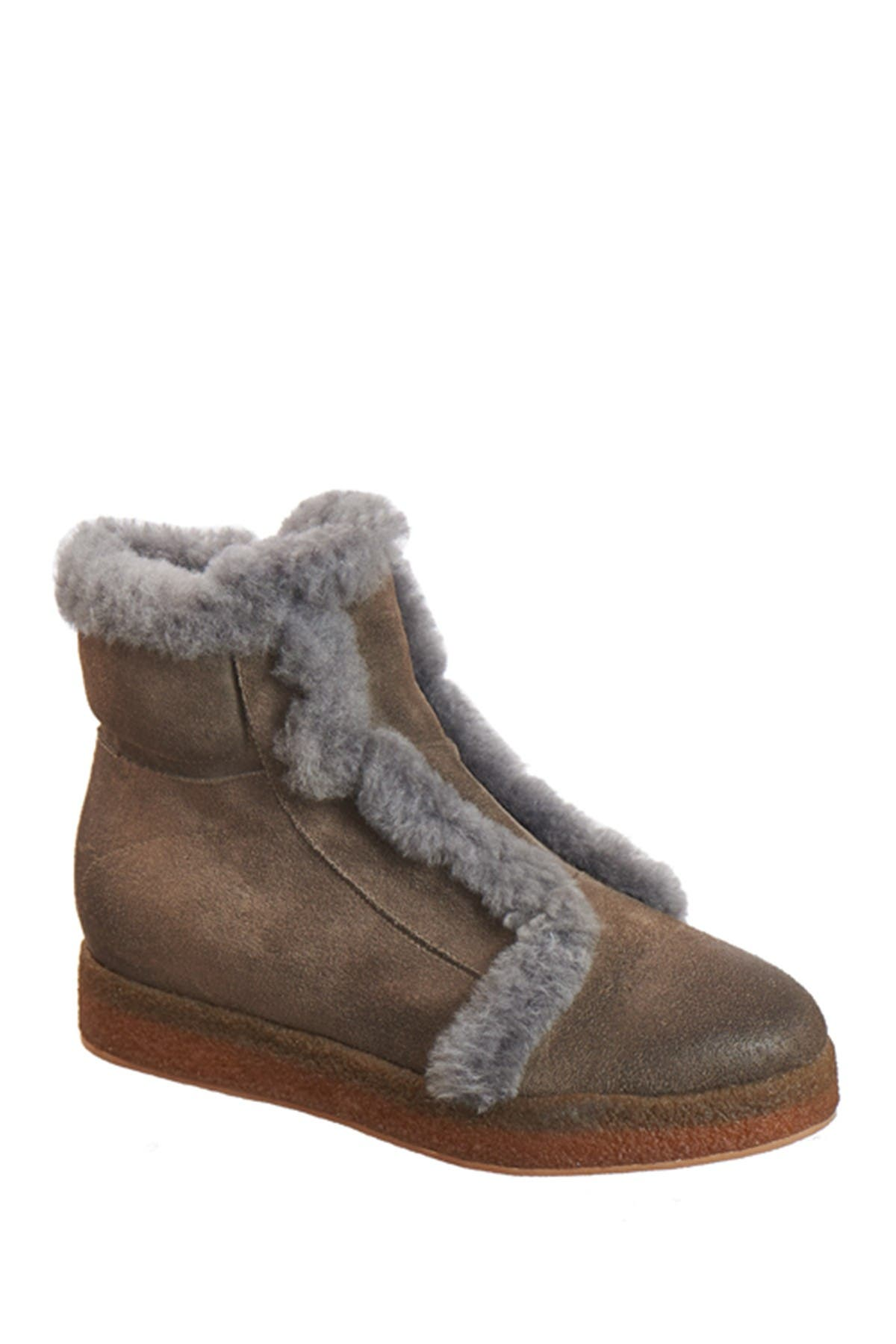 Image of Antelope FUR Fur Trimmed Leather Bootie
