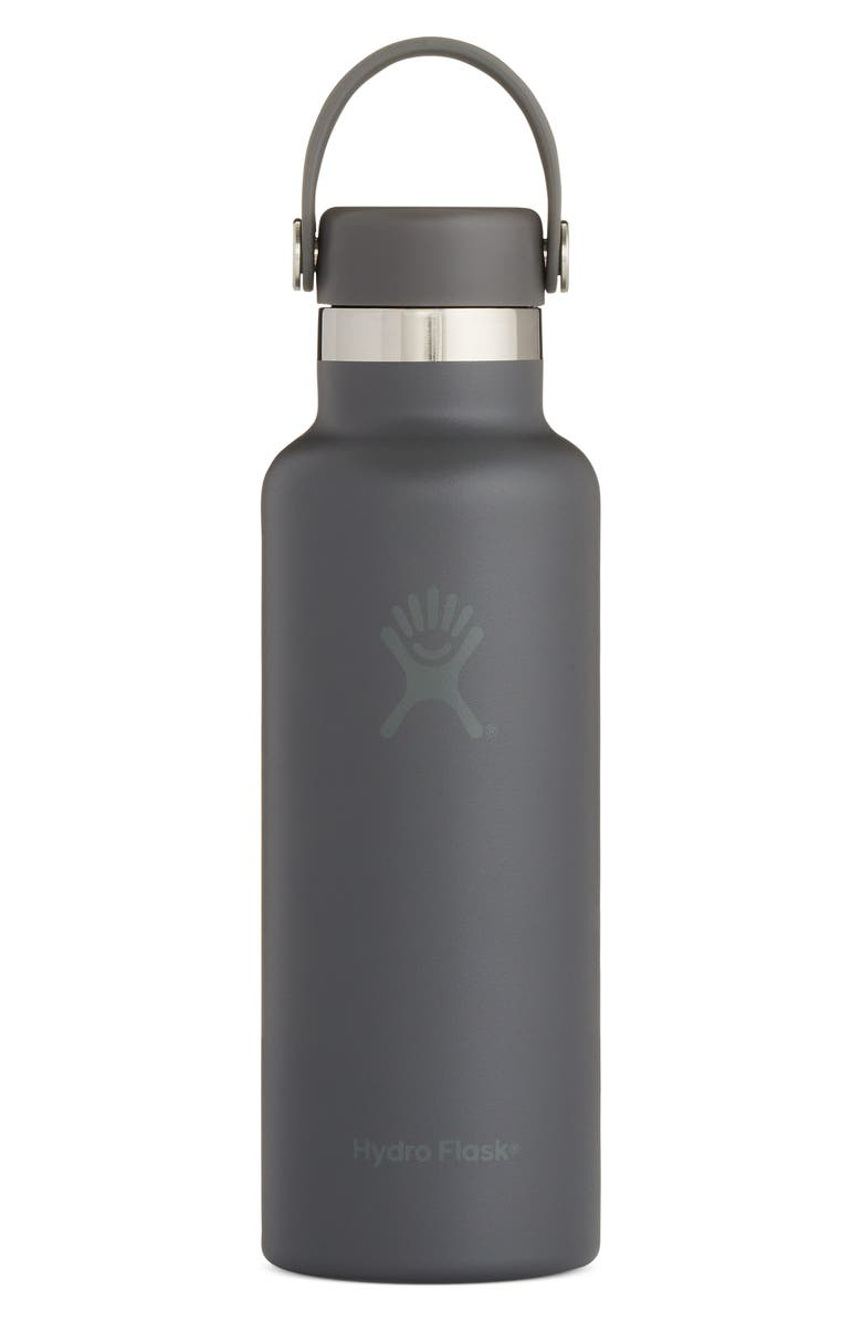 HYDRO FLASK Skyline 18-Ounce Standard Mouth Bottle with Sport Cap, Main, color, STONE