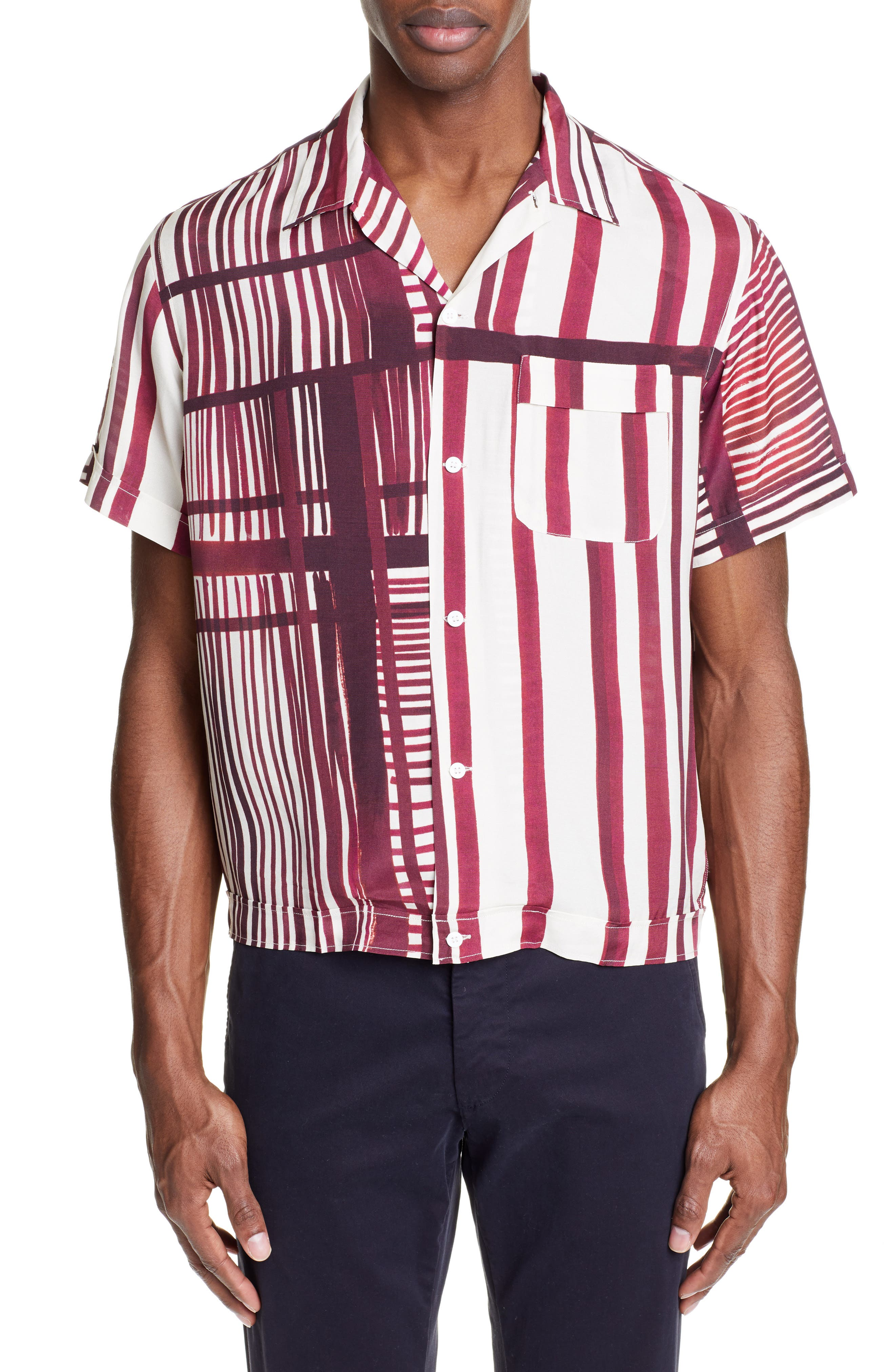 Willy Stripe Camp Shirt, Main, color, 930