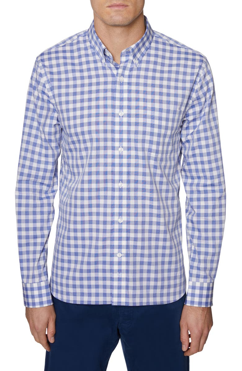 HICKEY FREEMAN Regular Fit Check Sport Shirt, Main, color, 400