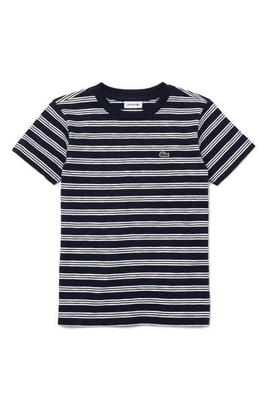 Lacoste T-shirts KIDS' TRICOLOR STRIPE T-SHIRT