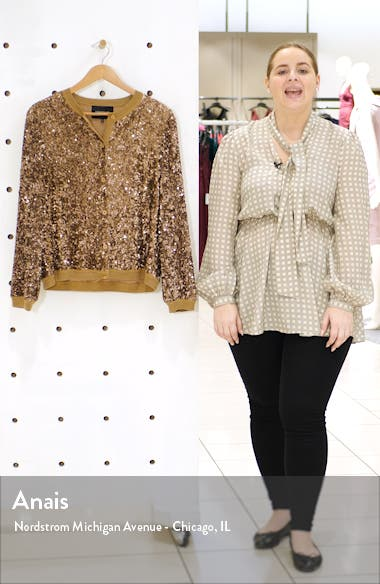 Jade Sequin Sweater Jacket, sales video thumbnail