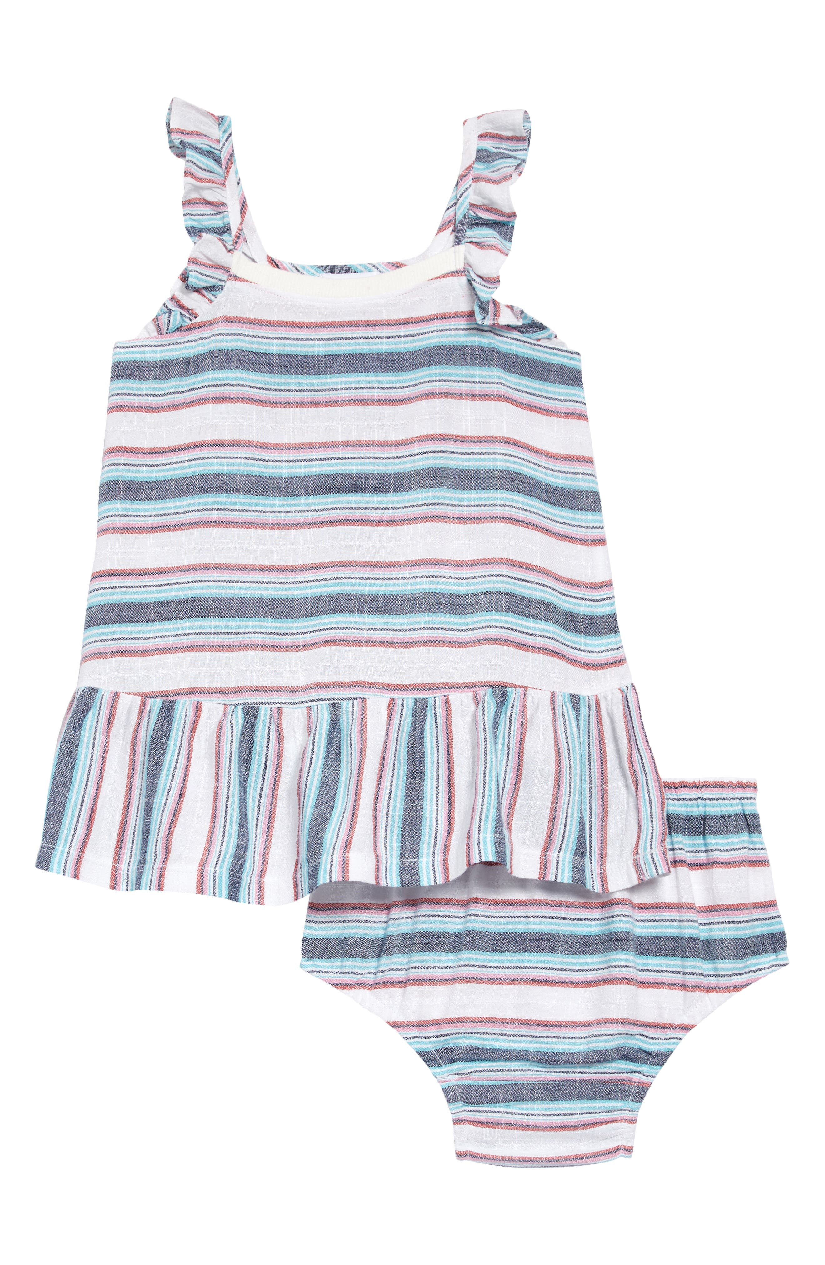 Image of Splendid Woven Stripe Dress With Bloomers