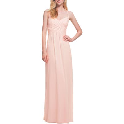 #levkoff Surplice Neck Chiffon Gown, 8 (similar to 16W) - Pink
