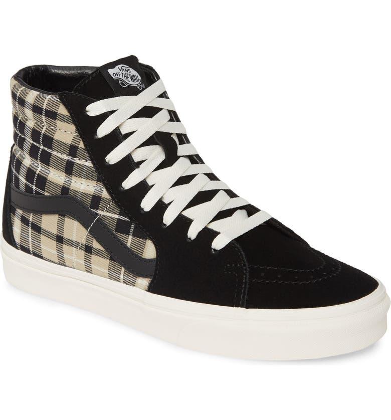 VANS 'Sk8-Hi' Sneaker, Main, color, BLACK/ TWILL