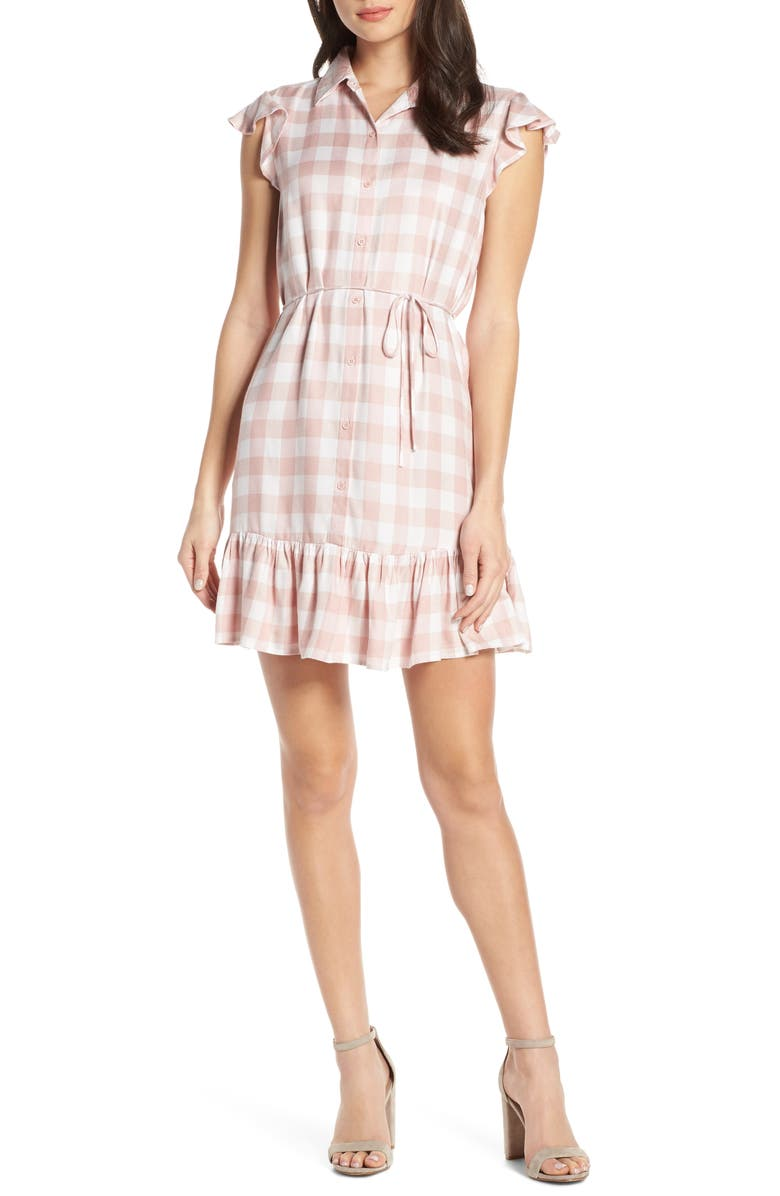 BB DAKOTA Check Please Minidress, Main, color, PINK LEMONADE