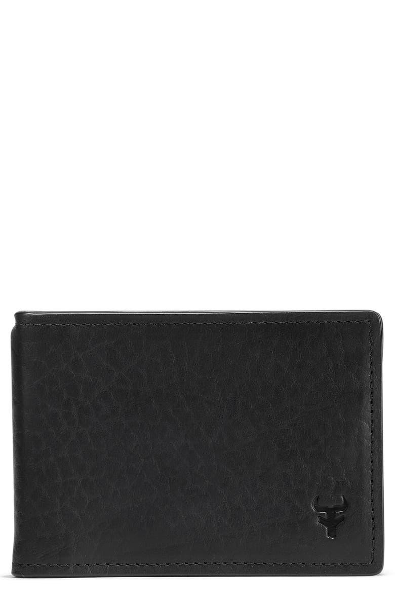TRASK Jackson Money Clip Wallet, Main, color, BLACK