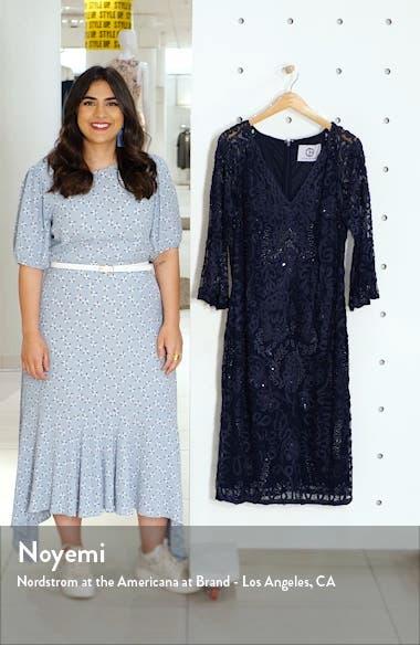 Bell Sleeve Mesh Shift Dress, sales video thumbnail