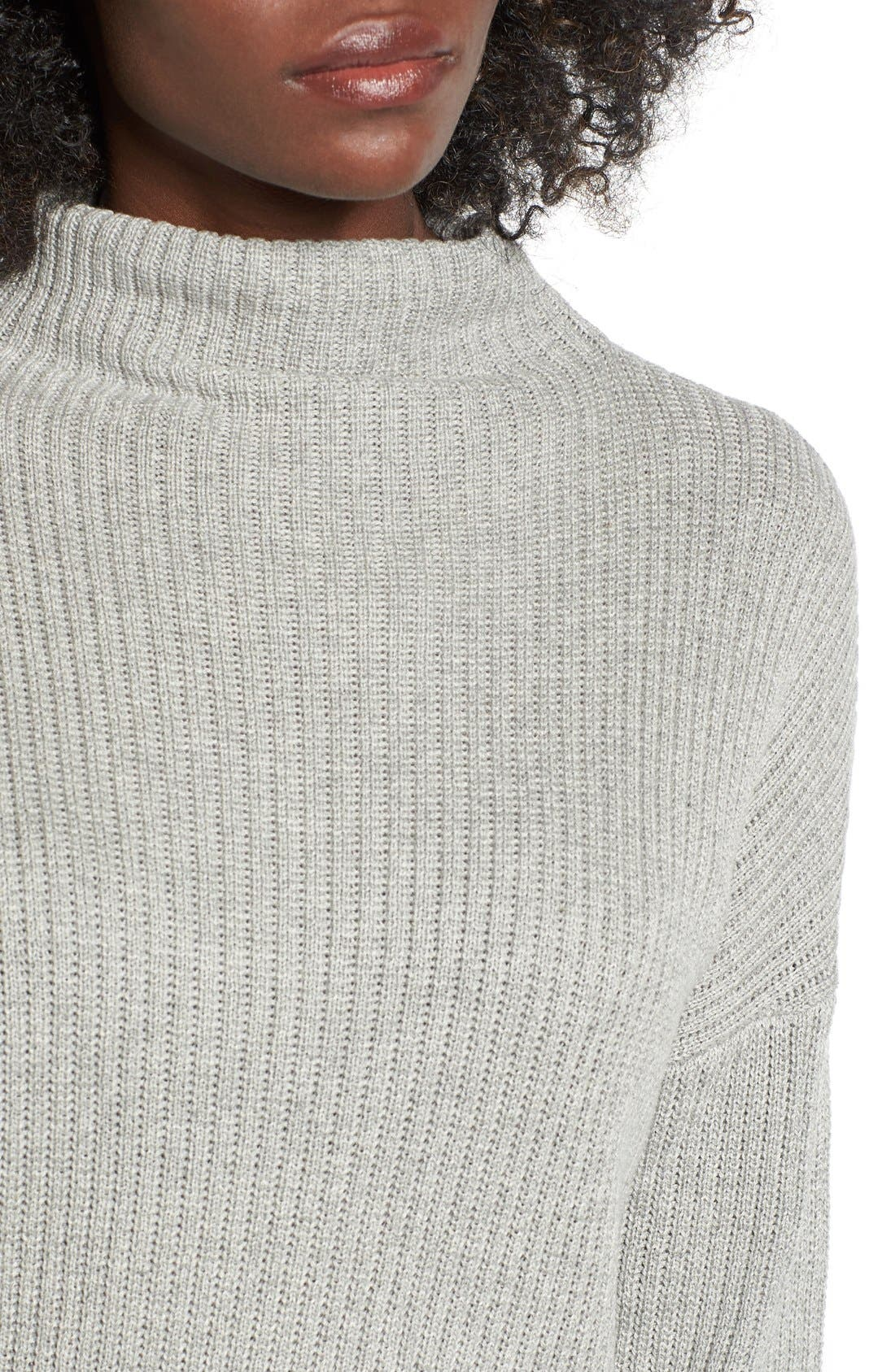 ,                             Mock Neck Sweater,                             Alternate thumbnail 9, color,                             030