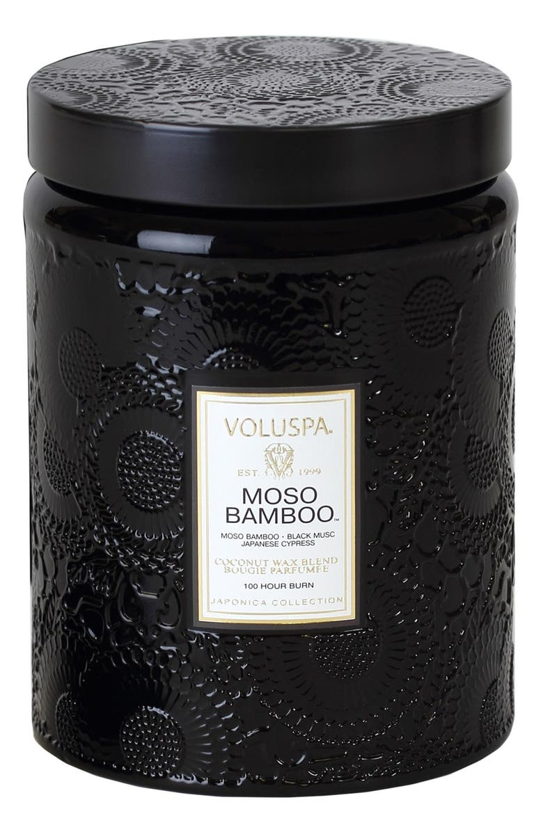 VOLUSPA 'Japonica - Moso Bamboo' Large Embossed Jar Candle, Main, color, 000